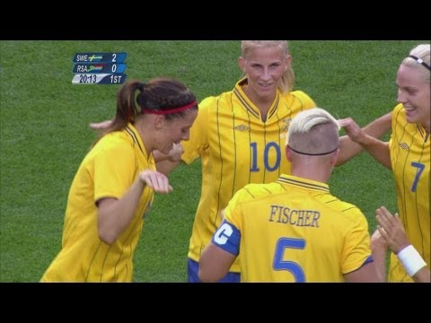 Sweden 4-1 South Africa - Women's Football Group F   London 2012 Olympics