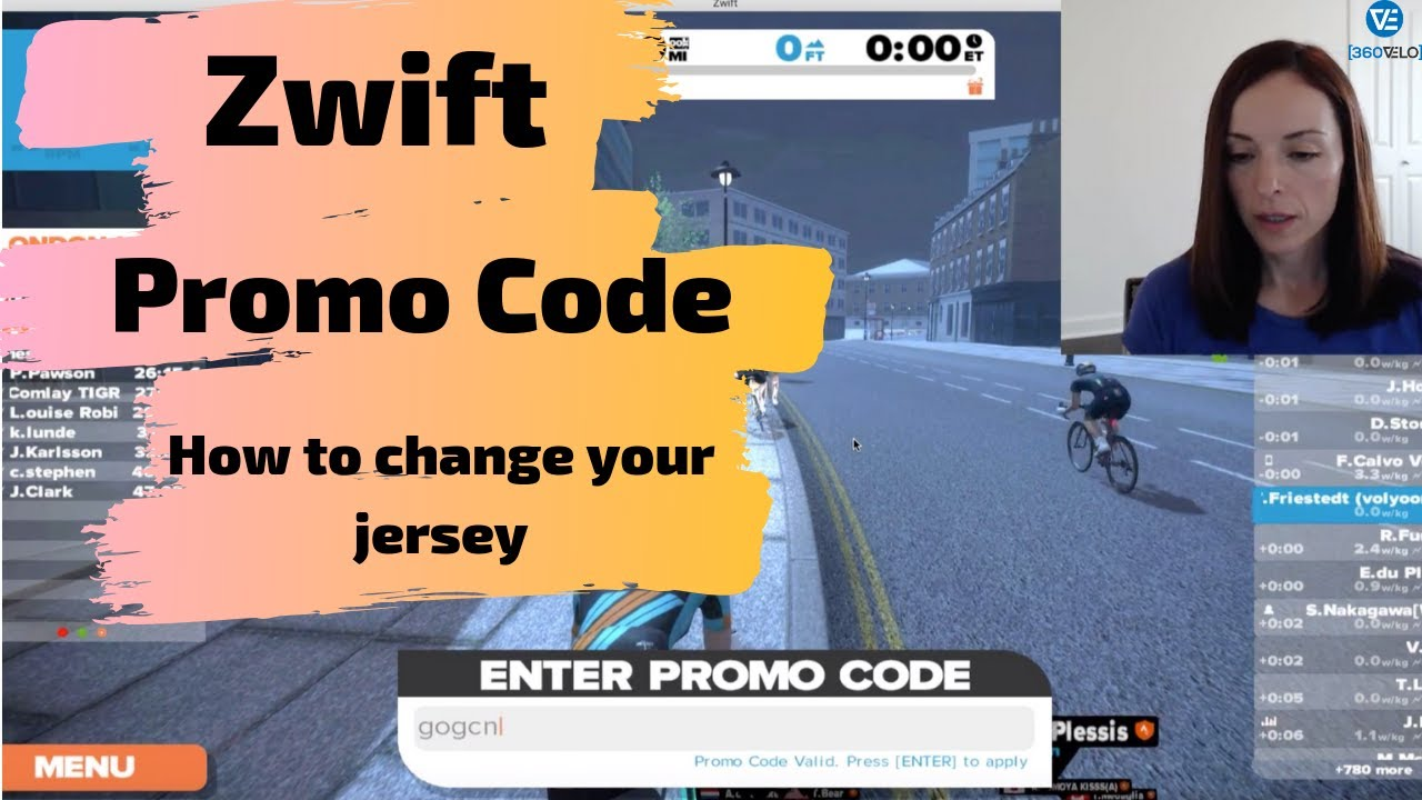 Zwift How to Use Promo Code to Change Jersey