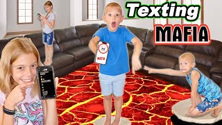 The Floor Is LAVA Texting Mafia In Tannerites House!