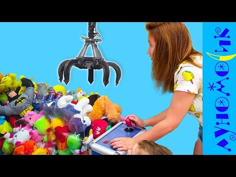 Автомат  с игрушками / ЧЕЛЛЕНДЖ как достать мягкую игрушку из аппарата