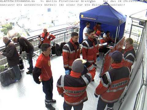 4. Berliner Firefighter Stairrun 2014 Webcam Ziel ab 14:50 Uhr