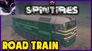 SpinTires 2014 Mod - ROAD TRAIN