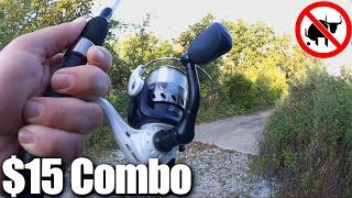 $15 WALMART Fishing Combo! Lew's Spinning Rod and Reel Setup