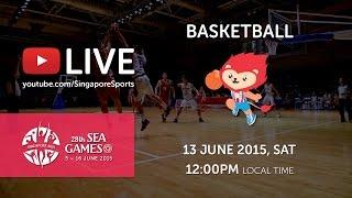 Basketball Men's Cambodia vs Vietnam | 28th SEA Games Singapore 2015