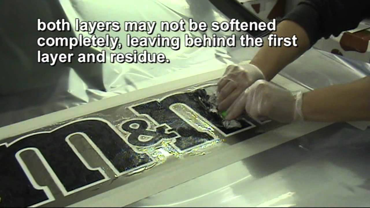 GraphXOff Vinyl Adhesive And Paint Remover HowTo Remove - Custom vinyl sign graphics   removal options