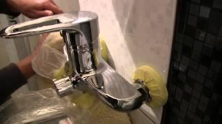 Монтаж - установка смесителя в ванной