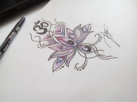 Dessin Fleur De Lotus Et Ohm Youtube
