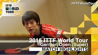 German Open 2016 Highlights: MATSUDAIRA Kenta vs BAI He (Qual)(Review all the highlights from the MATSUDAIRA Kenta vs BAI He (Qual) from the German Open 2016 Subscribe here for more official Table Tennis highlights: ..., 2016-01-27T19:14:28.000Z)