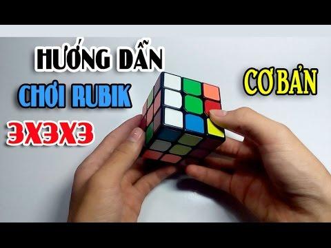 [Hướng dẫn] Giải Rubik 3×3 cho người mới bắt đầu !!!