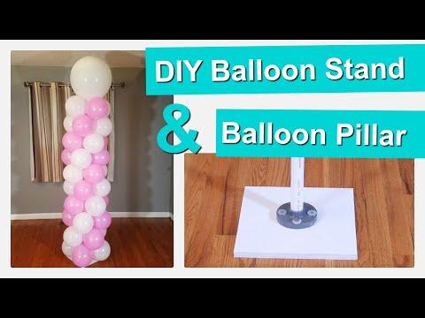 DIY Balloon Pillar | DIY Balloon Column Stand
