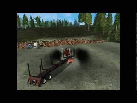 18 Wheels of steel Haulin: Western star 4900 log truck going to the log site HD (downloads)  
