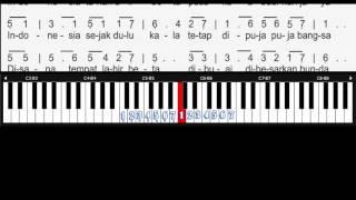Notasi Angka Indonesia Pusaka - Ismail Marzuki