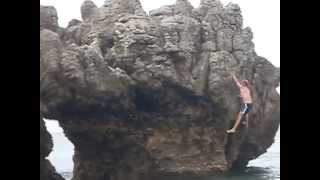 Escalada Playa camping La isla Cantabria