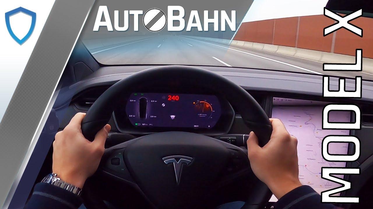 Autobahn Tesla Model X Long Range 2020 Pov Drive 100 200 Km H Top Speed Youtube