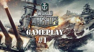 World of Warships Gameplay #1 - Starting Tier 1