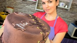 Кожаный торт (сливочный творожный крем, эффект кожи, экструдер) - Я - ТОРТодел!