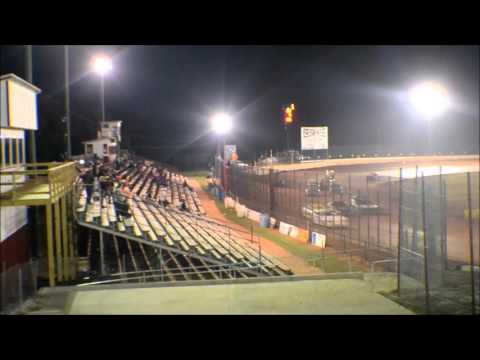 12 year old jordan fowler golden isles speedway 10-3-15 feature win