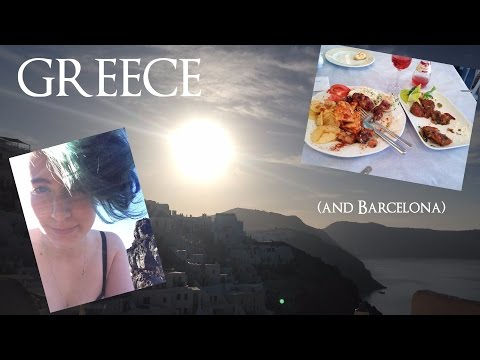 Greece (and a little Barcelona) Travel Vlog | Study Abroad Adventures