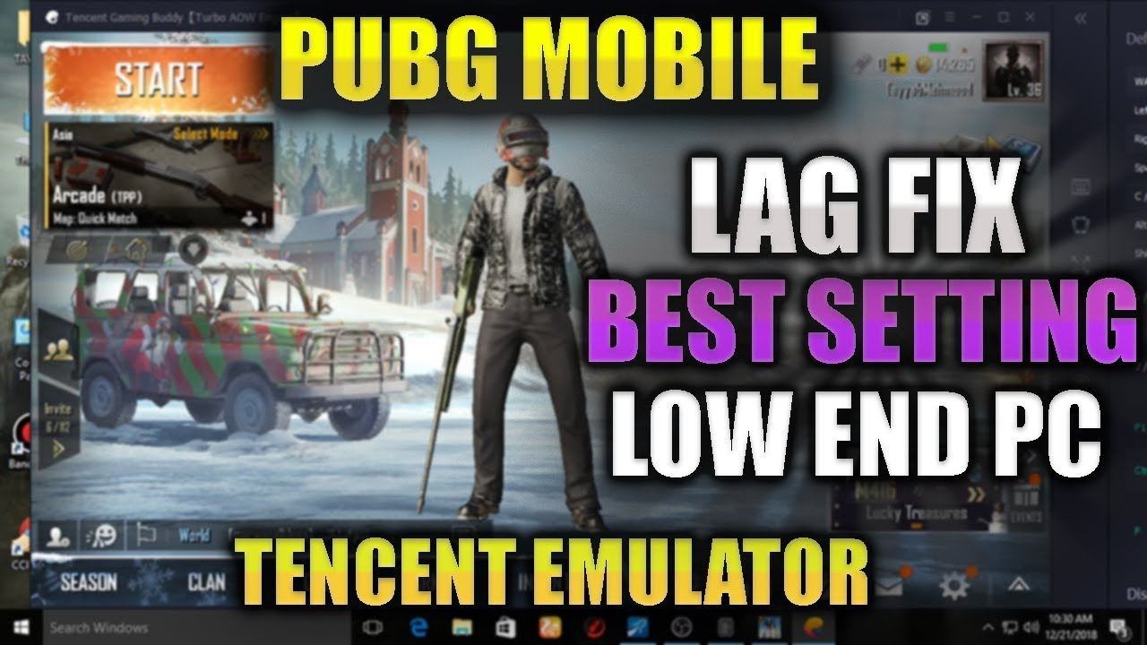 🔧How To Fix Lag in PUBG Mobile Emulator 100% Work Best Setting For Tencent  Emulator On Low End Pc