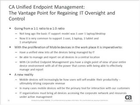 CA on CA Mobile Device Management