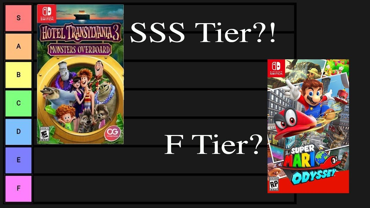 Nintendo Published Switch Games Tier List Youtube