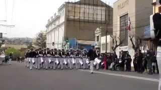 Desfile al centro de de ex alumnos de la Escuela de Grumetes año 2014