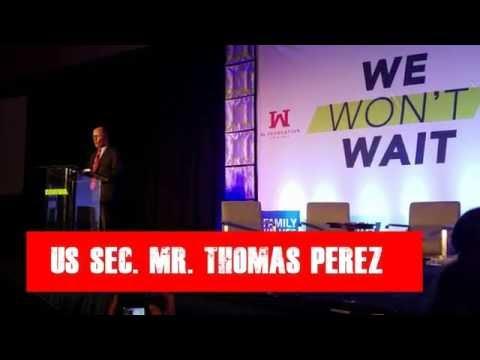 US Secretary of Labor Thomas Perez at We Won