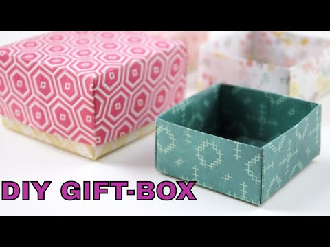 DIY Gift Box, Paper Crafts Tutorial, Gift Box-super easy Kids Crafts-handmade gift ideas, paper cut