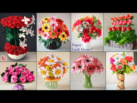 Best!! 11 DIY Room Decor Paper Craft Flower Pot Projects