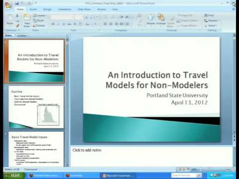 Activity and Transportation Models: An Introduction to Travel Models for Non-Modelers