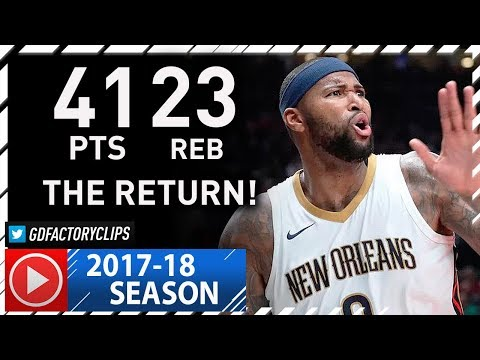 DeMarcus Cousins EPIC Highlights vs Kings (2017.10.26) - 41 Pts, 23 Reb, RETURN to SACRAMENTO!