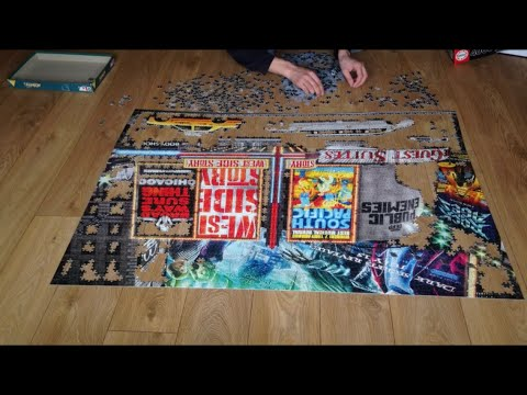 educa puzzle timelapse 4000 pieces new york theatre signs youtube. Black Bedroom Furniture Sets. Home Design Ideas