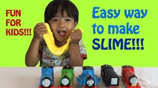 HOW TO MAKE SLIME Easy Science Experiments for kids