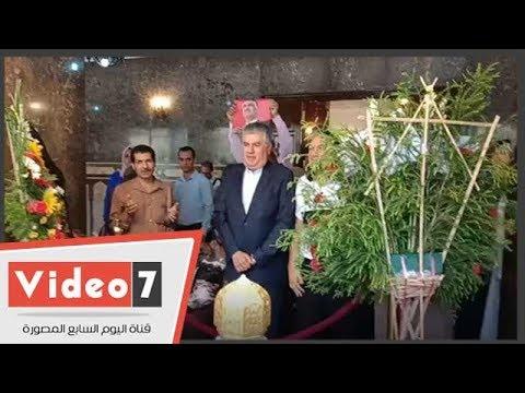 نجل الزعيم عبد الناصر يزور ضريحه بحدائق القبة  - نشر قبل 37 دقيقة