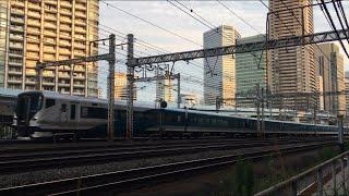 【しょうなん、やまのてせん、ゆりかもめ】E257系 特急 湘南(回送)、山手線E235系、ゆりかもめ7300系@浜松町〜新橋