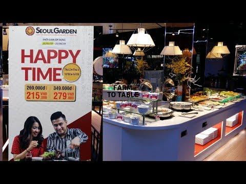 KHUYẾN MÃI LỚN ở Buffet Lẩu Và Nướng Của Seoul Garden Quận 7: 215k