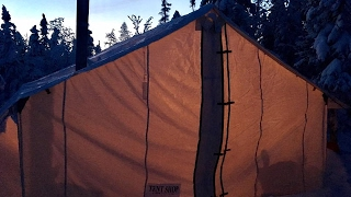 Solo Overnighter In My Hot Tent -34c