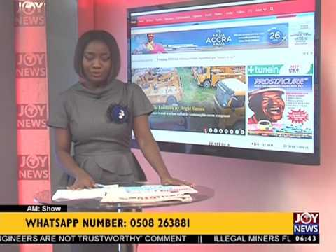 AM Show Newspaper Headlines on Joy News (3-8-17)