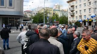 В центре Киева шахтеров, перекрывших улицу, обманули водители