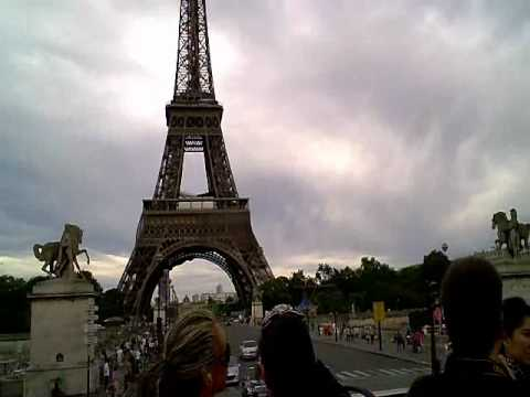 ARRIVING PARIS - France  HD Video tour Paris Eiffel Tower Arc Triomphe