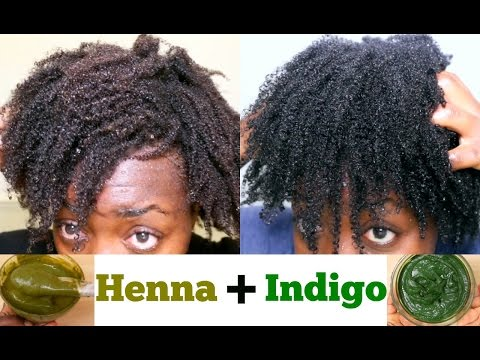 Natural Hair Dye DIY Henna & Indigo For Black Hair from