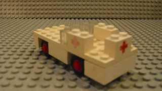 Building Instruction #3 -  Lego Set 600 Ambulance (1970)
