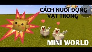 MINI WORLD#2| CÁCH NUÔI ĐỘNG VẬT TRONG MINI WORLD| SOMBER ROBLOX GAMER