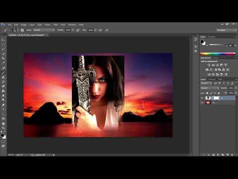 Ghép ảnh vào nền trong Photoshop. Blend an Image into a Background in Photoshop