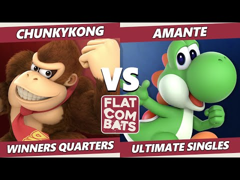 Flat Combats 1 Winners Quarters - EDM | ChunkyKong (Donkey Kong) Vs. Amante (Yoshi) SSBU Smash Ultim