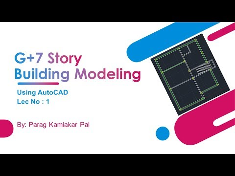 G+7 Story building Plan-Elevation-Section Using Autocad
