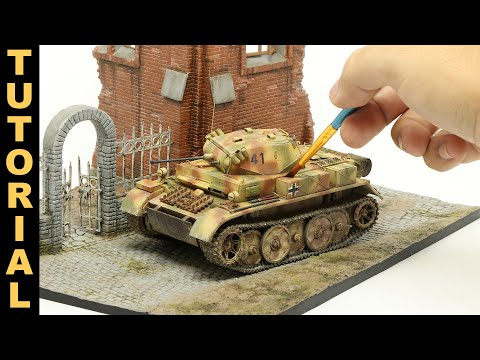 Let's build and paint a realistic WWII German tank model, from start to finish!