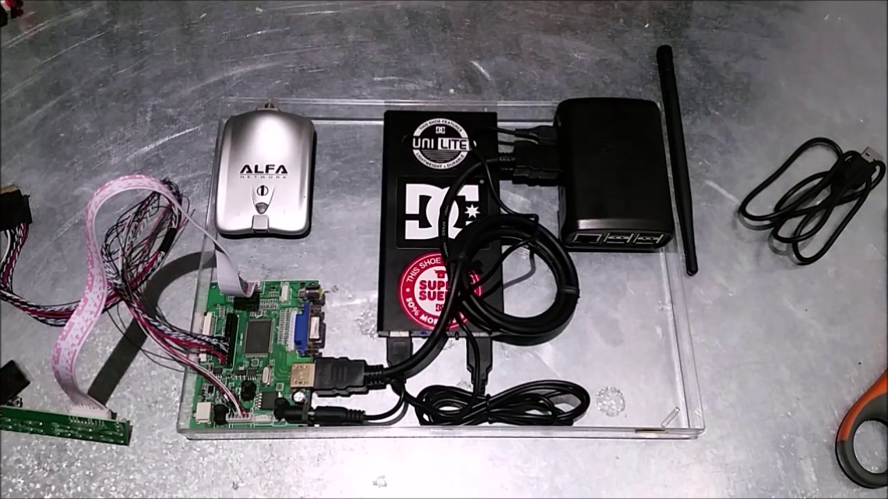 Portable Kali Hacking Station Detailed Raspberry pi