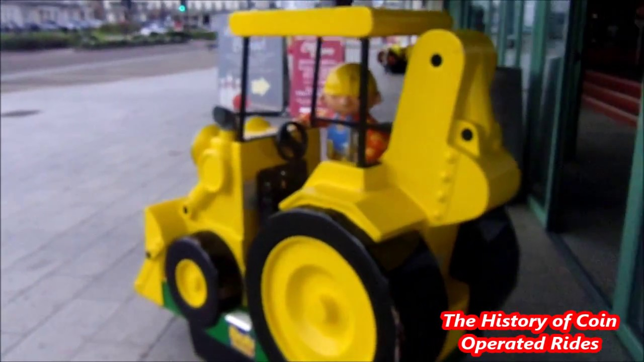 2000s Coin Operated Digger Kiddie Ride Bob The Builder Scoop