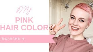 DIY Pink Hair Color With @Sarahb.h